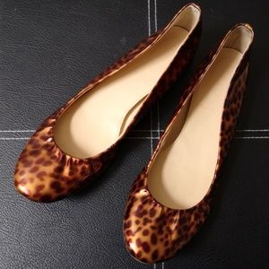 J CREW Women Ballet Flats Size 7.5 Tortoise Shell